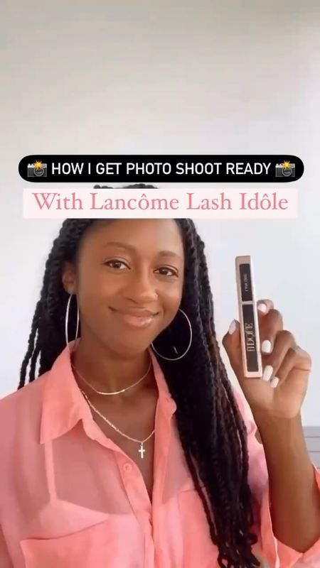 Do you use mascara for fuller eyelashes? Mascara is a non-negotiable when I prep for photo shoots! I have really long eyelashes, but they are soo straight! 😅 I'm always on the hunt for mascaras like this Lash Idôle by @LancomeOfficial 😍.....#LancomePartner The curved wand pushes lashes up and lengthens them in just a few swipes 👌🏾 its feathery light formula is made with White Tea extract, so my lashes never look clumpy or stiff! You can find it at @Sephora. 🙌🏾#LashIdole #Sephora   #LTKstyletip
