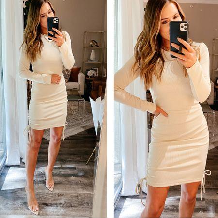 Small dress // amazon fashion, Amazon dress, long sleeve dress, amazon