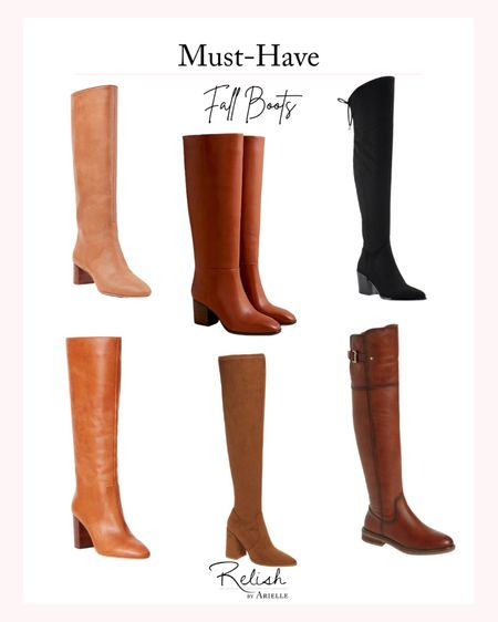 Must-Have Fall Boots - Knee high and over the knee boots, tall boots, fall boots, fall fashion, fall outfit inspiration   #LTKSeasonal #LTKshoecrush #LTKstyletip