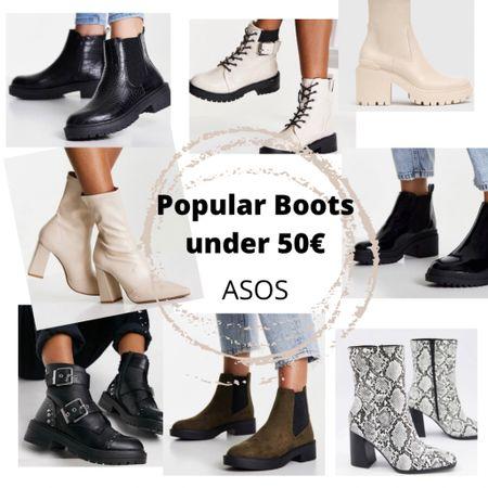 🇩🇪: seid schnell! Diese populären Boots von Asos sind schnell vergriffen! Alle unter 50€.  . . 🇺🇸 be quick!  These popular boots from Asos are selling out quickly!  All under €50.   #boots #asos #bootsunder50    #LTKunder50 #LTKstyletip #LTKeurope