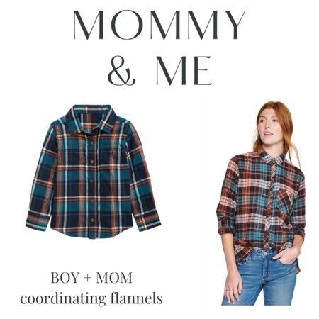 Boy Mom - mommy & me coordinating flannels   #LTKsalealert #LTKkids #LTKfamily