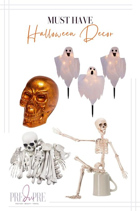 Haven't decorated for Halloween yet? I got you. Check out these great Amazon and Target find. Perfect for the spooky holiday.  Halloween, fall outdoor decor, outdoor decor, Halloween decor, Halloween fun, skull decor, skeleton decor, bones decor, ghost decor  #LTKHoliday #LTKSeasonal #LTKhome
