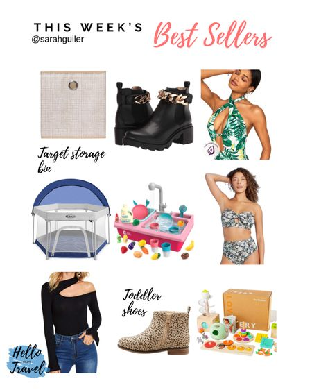 Fall shoes. Fall toddler shoes. Combat boots. One piece swimsuit. Adore me swimsuit. Fall top. Lovevery playkit. Montessori toys. Storage bin. Target home. Target style. Amazon finds. Outdoor playpen.   #LTKswim #LTKhome #LTKfamily