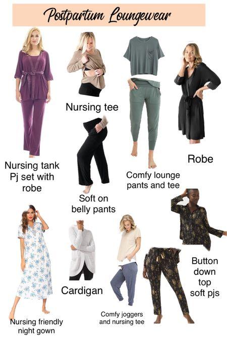 Comfy loungewear, nursing friendly clothing, postpartum lounge wear, comfy clothes, pajamas, nursing friendly pjs   #LTKunder50 #LTKHoliday #LTKbump