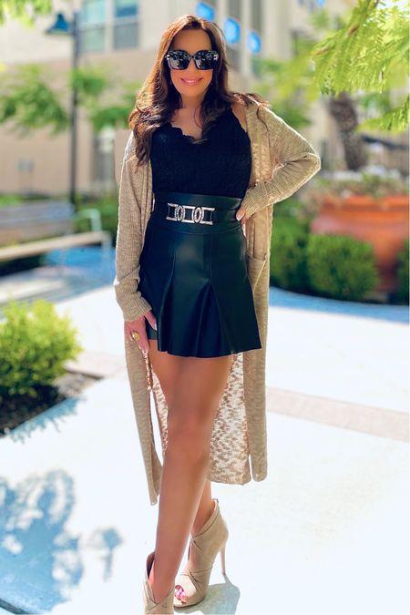 #fall #fall2021 #fauxleather #skirts #mini #blackskiets  #bodysuits #belts #trends #trending #bodysuits #duster #cardigan  #sweater     #LTKunder50 #LTKSeasonal #LTKGiftGuide
