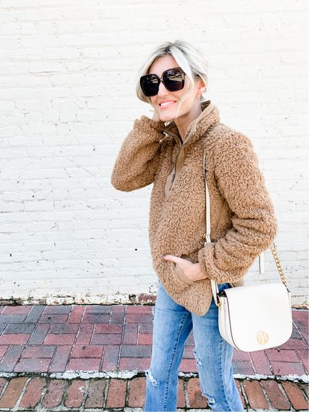 Abercrombie sherpa pullovers on sale