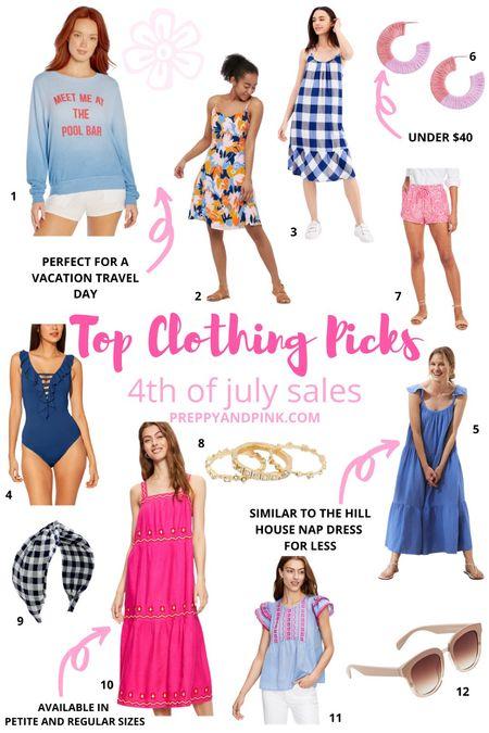 Clothing sales. Loft sale. JCrew sale. Gingham dress. Wedding guest dress. Pink shorts. Kendra Scott rings. Nap dress.  One piece swimsuit.   #LTKswim #LTKSeasonal #LTKsalealert