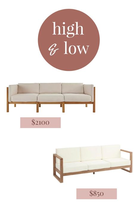 Outdoor sofa at high and low price for the same look. Look for less outdoor furniture   #LTKSeasonal #LTKhome