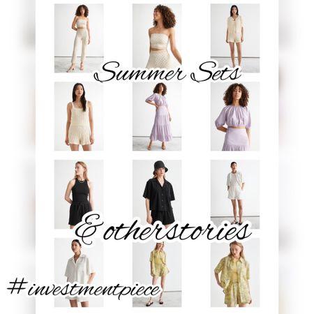 Chic summer sets for cool summer dressing @otherstories #investmentpiece   #LTKstyletip #LTKSeasonal #LTKunder100