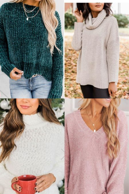 Gift Guide for Her 🎁 Cozy Pink Lily Sweaters under $50! @liketoknow.it #liketkit http://liketk.it/30E3c #LTKunder50 #LTKstyletip