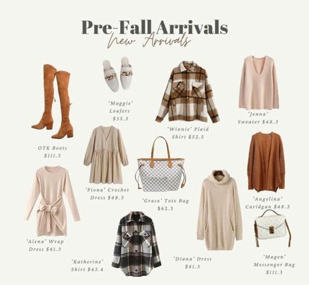 Fall outfits, knee high boots, plaid, flannels, shackets, fall jackets, fall sweaters, cardigans, fall dresses, handbags, designer dupes, booties, boots, fall outfit inspo, fall clothing, fall must haves, cute handbags  #LTKstyletip #LTKsalealert #LTKSeasonal