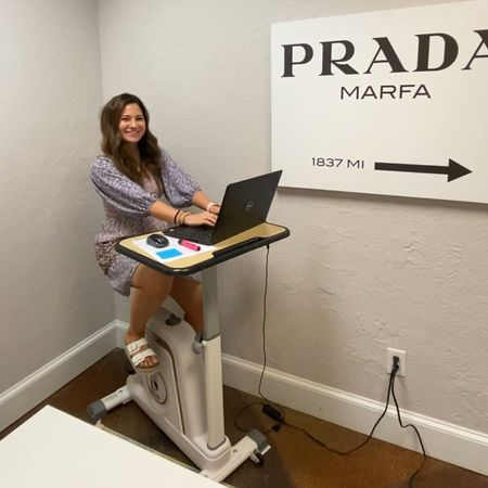 Bike desk just came in from amazon!  Linked it and my office Prada Marfa wall decor on LTK!    #LTKbacktoschool #LTKhome