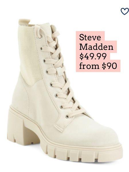 Steve Madden lug sole Boots on sale   #LTKshoecrush #LTKSeasonal #LTKsalealert