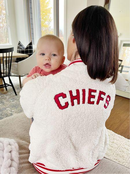 F O O T B A L L \ NFL gear but make it cute🏈🏈🏈  #nfl #football #chiefs #sherpa #babyboy  #LTKbaby