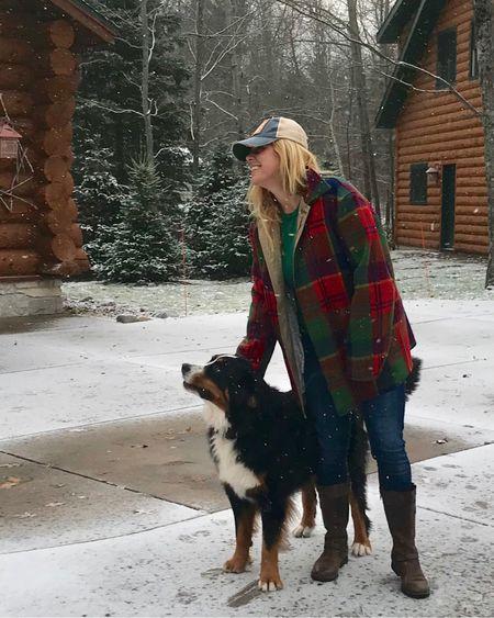 Scout loves the snow! I love boots + jacket weather!   http://liketk.it/2y8Eo  #liketkit @liketoknow.it #fallstyle #plaidjacket #winterstyle #bornboots #bernese #berner #bernesemountaindog #northwoods #minocqua #cabinlife #northwoodsliving #cottagestyle #cabinliving #midwestliving #wintercoat #falljacket #huntingjacket #fieldjacket #vintage