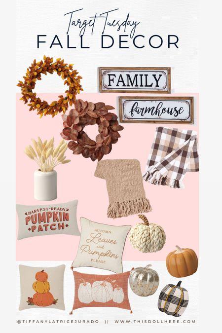 Fall Decor, fall wreaths, throw pillows, throw blanket, pumpkin, centerpiece, fall centerpiece, picture frame, fall pictures,  #LTKSeasonal #LTKunder50 #LTKhome
