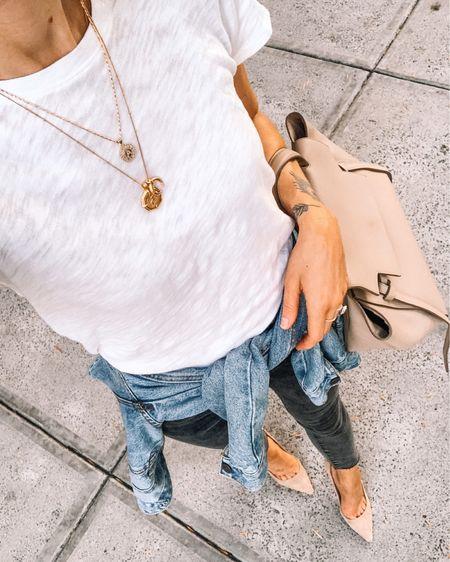 My favorite white tshirt ever (small / tts). Linked the bralette I wear with it! #whitetshirt #denimjacket http://liketk.it/3idLJ #liketkit @liketoknow.it #LTKstyletip #LTKunder100 #LTKunder50
