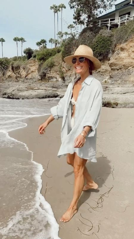 5 easy summer outfits for the weekend ahead… whether you're lounging, working out, heading to the beach/pool, or a day out there is an outfit for any occasion…. // slides are 15% off with code SHANNON15 and robe is maison du soir Palermo style, can't link it here   #LTKstyletip