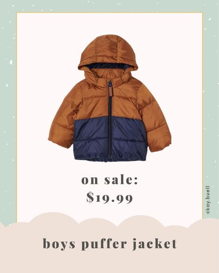 Jackson's puffer jacket is on sale today! ❤️   #LTKkids