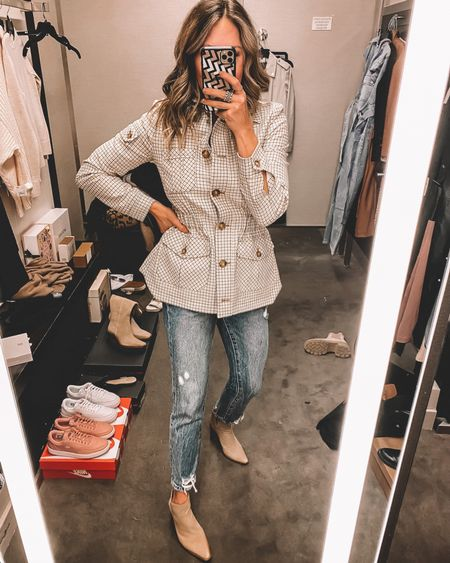 Nsale Veronica Beard Camp jacket, brown booties - still in stock   #LTKstyletip #LTKshoecrush #LTKsalealert