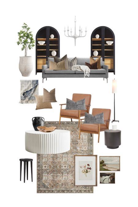 -MORE links on my website www.hellofound.com-This mood board was created in collaboration with Liz Tallman and a mood board swap inspfied by eachothers homes. This is my spin on her style. #livingroomideas http://liketk.it/3fqDM #liketkit @liketoknow.it