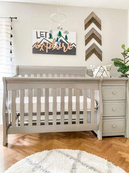 "Baby's ""Let's Explore"" boy/girl nursery rustic decor  #LTKbaby #LTKhome #LTKfamily"