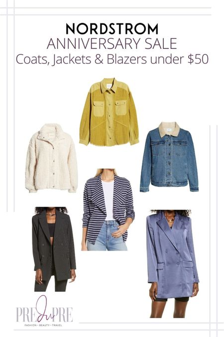 Great finds at the Nordstrom Anniversary Sale. I've rounded up my top picks in coats, jackets, & blazers under $50.   http://liketk.it/3jNf4         My NSale 2021 fashion favorites, Nordstrom Anniversary Sale, Nordstrom Anniversary Sale 2021, 2021 Nordstrom Anniversary Sale, NSale,  N Sale, N Sale 2021, 2021 N Sale,  NSale Top Picks,  NSale Beauty,  NSale Fashion Finds,  NSale Finds,  NSale Picks,  NSale 2021,  NSale 2021 preview, #NSale, #NSalefashion, #NSale2021, #2021NSale, #NSaleTopPicks, #NSalesfalloutfits, #NSalebooties,  #NSalesweater, #NSalefalllookbook, #Nsalestyle #Nsalefallfashion, Nordstrom anniversary sale picks, Nordstrom anniversary sale 2021 picks, Nordstrom anniversary Top Picks, Nordstrom anniversary, fall outfits, fall lookbook, fall outfit inspo, what to wear for fall  corduroy jacket blazer denim jacket striped blazer summer outfit fall outfit great finds #liketkit @liketoknow.it   Download the LIKEtoKNOW.it shopping app to shop this pic via screenshot  #LTKsalealert #LTKunder50 #LTKstyletip