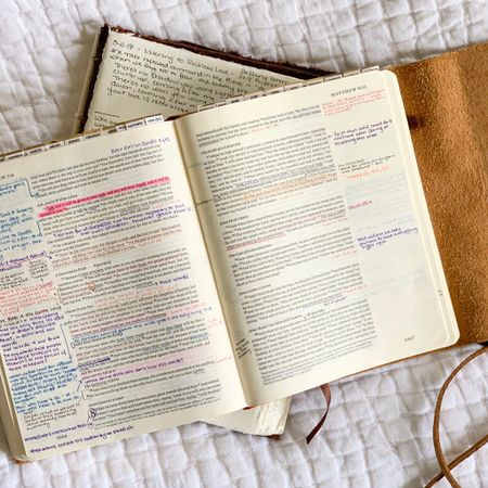 I'm always asked about my journaling Bible. It's ESV version with wide margins for notes. My fave pens are linked ... fine enough tip to write small and they don't bleed through the pages http://liketk.it/36r8m  #liketkit @liketoknow.it