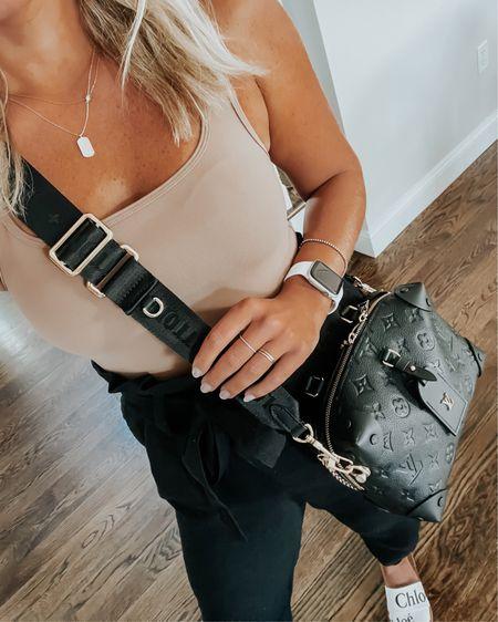 Bodysuit, high waist pants, Chloe sandals @liketoknow.it http://liketk.it/3hyF6 #liketkit
