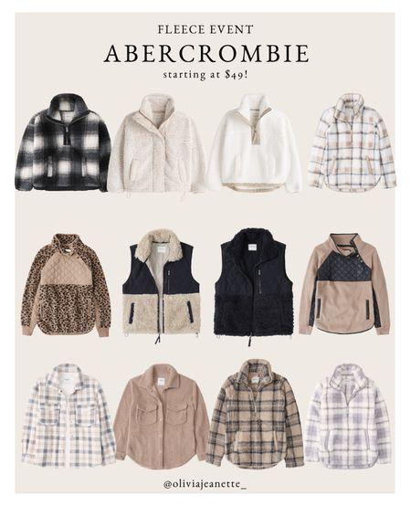 Fleece event! Shop cozy fall sweatshirts starting at $49 from Abercrombie 🙌🏼🍂🤎  #LTKSeasonal #LTKHoliday #LTKunder50