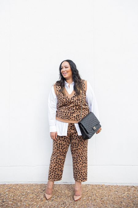 Never met a leopard sweater set I didn't like! Never fully dressed, leopard, sweater   #LTKSeasonal #LTKcurves