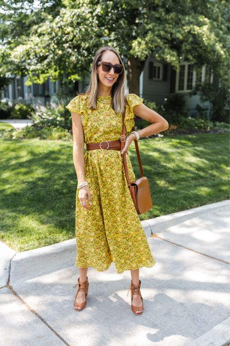 Yellow maxi dress, one of my best purchases all summer and it's on sale for $75–runs big, I sized down to an XS and it's perfect! Love it belted too :)   #LTKworkwear #LTKunder100 #LTKsalealert