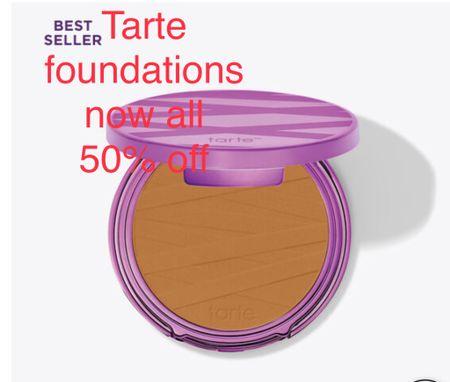 Tarte foundation now 50% off!  Find your perfect match and color #tarte #makeup #foundation #sale  #LTKbeauty #LTKfamily #LTKsalealert