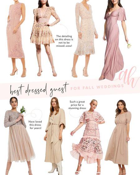 Fall wedding guest dress options, best dressed guest options, wedding dresses for guest   #LTKeurope #LTKSeasonal #LTKstyletip