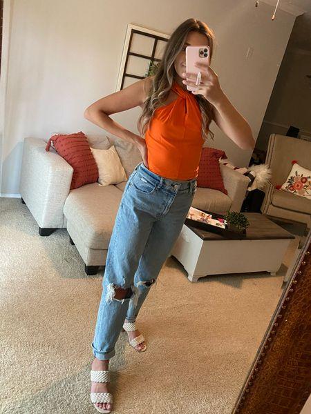 Love this cute orange top and it's under $30    #LTKsalealert #LTKunder50 #LTKunder100