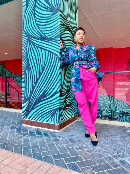 Still a few of these beautiful floral blazer dresses great for summer brunches! Worn as a blazer paired with hot pink linen pants black suede stiletto pumps #amazonthedrop #amazonfashion #springoutfit #summeroutfit  #LTKstyletip