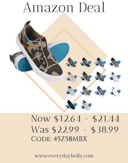 Amazon Deal!  Super cute! Womens slip on canvas sneakers.  Lots of color/style options    #LTKunder50 #LTKshoecrush #LTKsalealert