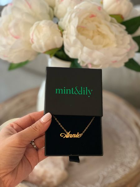 Love this custom name necklace! You can choose your font and it's really nice quality. Currently on sale!  #LTKunder50 #LTKstyletip #LTKsalealert