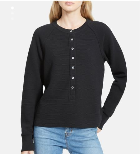 Cute Henley comes in 3 colors. Pricey now but hoping for a price drop (the LTK app will now alert you to sales/price drops for your favorite items)!  #LTKSeasonal