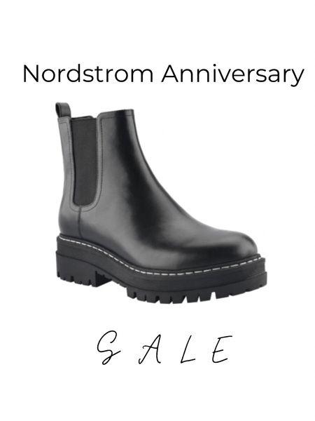 Nordstrom sale is on! Check out this Marc fisher Chelsea boot on sale 😍 #nsale  Black lug boots  Leather Chelsea boots  Booties  Chunky boots  Ankle boots  Work wear  Summer  Back to school  Fall   #LTKsalealert #LTKshoecrush #LTKstyletip