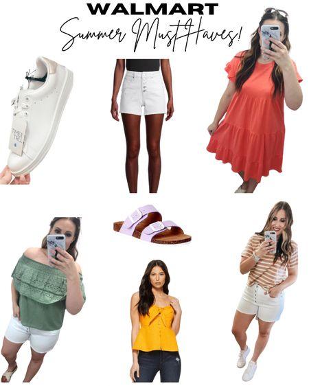 Some Walmart finds for this summer! #summeroutfit #summer2021 #shorts #tee #dress #sandals #walmart http://liketk.it/3ijSo #liketkit @liketoknow.it #LTKstyletip #LTKunder50
