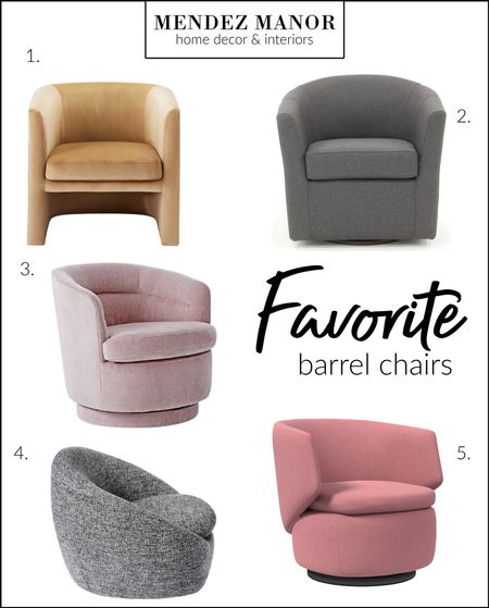 Can't resist a good barrel chair! I love that this classic chair is making such a huge comeback right now! Here are a few of my favorites...  #LTKhome