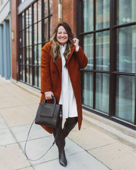 Coat sale // Winter sale // Topshop boucle coat // Topshop jacket // Business casual outfit // Spring dress // Baby shower dress // Winter to Sprung outfit // Teddy coat // Brown jacket // Faux leather leggings // Babydoll dress // Nordstrom // Target style   @liketoknow.it #liketkit #LTKunder50 #LTKSeasonal #LTKstyletip    http://liketk.it/39z01