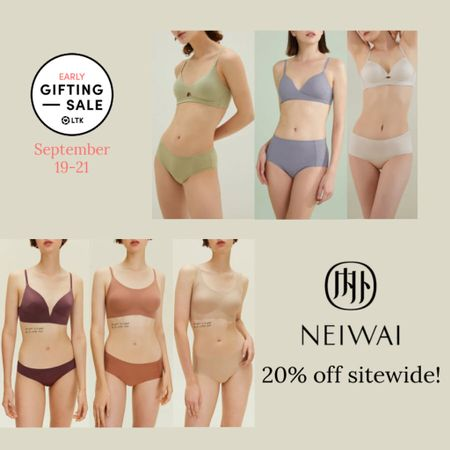 The LTK Early Gifting Sale ends tomorrow! All of your bra and underwear favorites and bestsellers from Neiwai are on sale for 20-30% off through September 21st, only in the LTK app!  . Bra bralette panties loungewear   #LTKsalealert #LTKunder50 #LTKSale