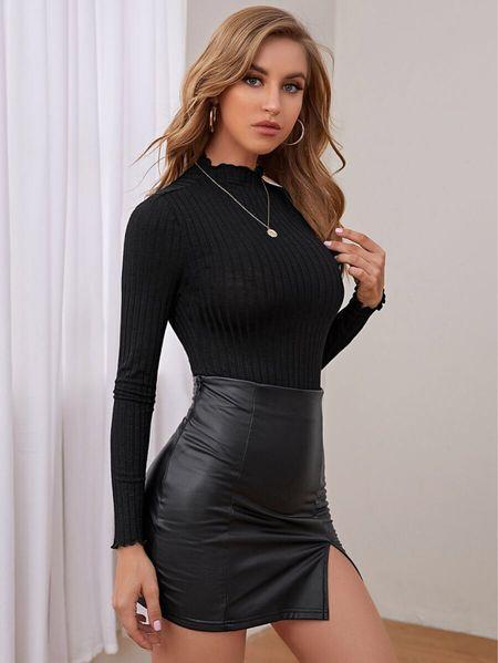 Black Bodysuit & Black Faux Leather Mini Skirt 🎀 Shein fashion finds! Click the products below to shop! Follow along @christinfenton for new looks & sales! #shein #sheinX @shop.ltk #liketkit  🥰 So excited you are here with me! DM me on IG with questions! 🤍 Xo Christin  #LTKstyletip #LTKshoecrush #LTKcurves #LTKitbag #LTKsalealert #LTKwedding #LTKfit #LTKunder50 #LTKunder100 #LTKbeauty #LTKworkwear #LTKSale