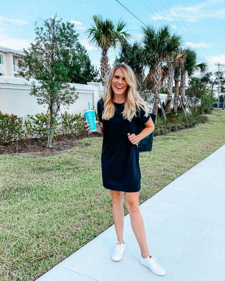 This comfy shirt dress and sneakers will legit be my uniform this summer! My sneakers are on sale and my dress is under 30! http://liketk.it/3cGMM #liketkit @liketoknow.it
