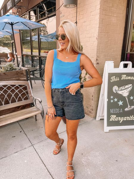 Shop my date night outfit! Found similar options to my top that was actually a hand me down from my mama! #datenightfashion #datenight #ltkunder50 #momshorts #dadshorts  #LTKshoecrush #LTKworkwear