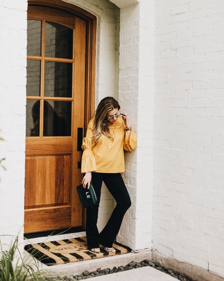 This blouse (which also comes in 4 other fav colors) + a conversation on skipping negative convos #todayonTKC. // http://liketk.it/2sS7m #liketkit @liketoknow.it #LTKstyletip #LTKitbag