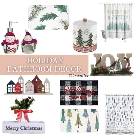 Make every room in your house festive this holiday! Even your bathroom!   #LTKHoliday #LTKhome #LTKSeasonal