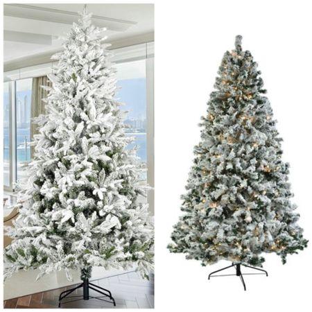 Flocked Christmas tree sale   #LTKHoliday #LTKhome #LTKsalealert